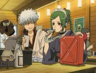 Gintoki and Tama at the Bar Episode 112