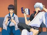 Shinpachi and Gintoki Episode 30