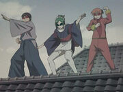 Shinpachi, Tama and Kagura Episode 112