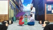 Kagura, Soyo, Shinpachi and Gintoki Episode 286