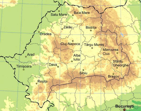 Map Of Transylvania Image   Physical map of Transylvania. | Girl Genius | FANDOM  Map Of Transylvania