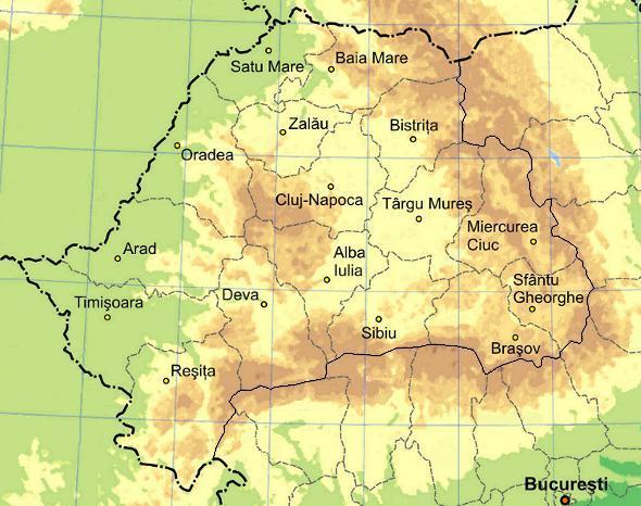 Image Physical Map Of Transylvaniajpg Girl Genius FANDOM - Oradea map
