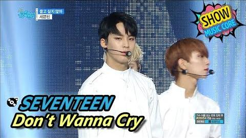 HOT SEVENTEEN - Don't Wanna Cry, 세븐틴 - 울고 싶지 않아 Show Music core 20170610