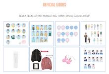 SEVENTEEN JAPAN FANMEETING 'HANA' Official Goods LINEUP