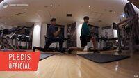 INSIDE SEVENTEEN 도겸이와 승관이의 홈트레이닝🏃🏻 (DK and Seungkwan's Home Training)