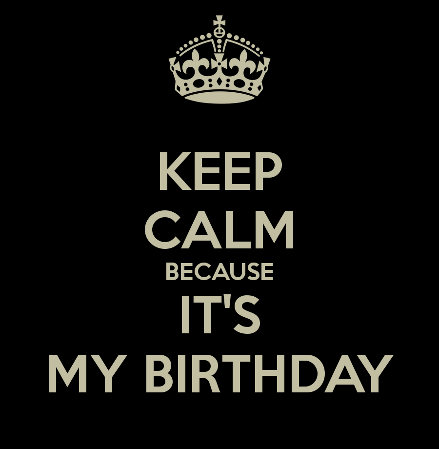 Keep Calm Because It S My Birthday 191.png