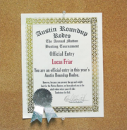 Lucas Friar's Entry - Austin Roundup Rodeo