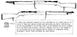Información sobre el Arisaka Tipo 38 en el volumen 3