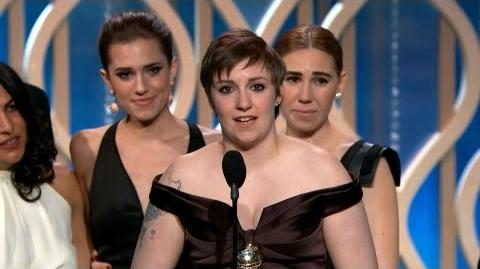 """Best TV Series - Comedy or Musical """"Girls"""" - Golden Globe Awards"""