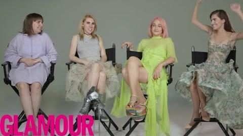 "How Well Does the Cast of ""Girls"" Really Know Each Other? Glamour"