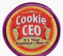 Junior Cookie CEO Cookie Business Badge