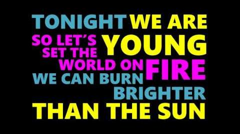Fun - We Are Young - Lyrics