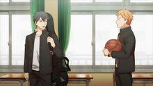 Ritsuka telling Shogo that he's skipping