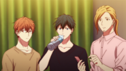 The band listening to Akihiko talking (52)