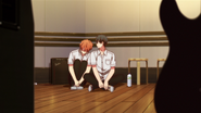 Mafuyu leans up against Ritsuka while asleep (24)