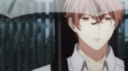 Mafuyu standing outside with an umbrella (25)