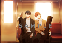 Mafuyu & Ritsuka on the train