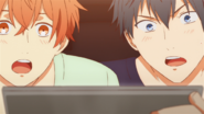 Mafuyu & Ritsuka watching the video (15)
