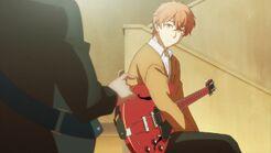Ritsuka asking Mafuyu where he got the guitar