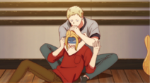 Akihiko strangling Haruki Ep6