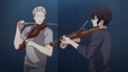 Akihiko & Ugetsu playing the violin(20)