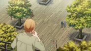 Haruki looking at Akihiko from above