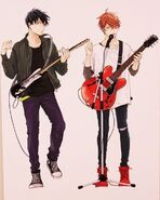 Ritsuka and Mafuyu with guitars