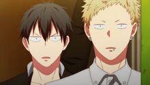 Ritsuka and Akihiko see Mafuyu
