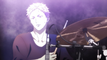 Akihiko playing the drums (Movie trailer)