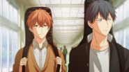 Ritsuka feeling annoyed while Mafuyu follows him