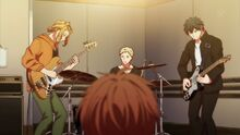 Ritsuka, Haruki, and Akihiko performing together