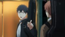Ritsuka telling Mafuyu to check out the light music club