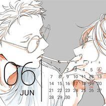 Given Calendar 2020 Akihiko & Ugetsu June page