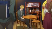 Hiiragi sitting alone