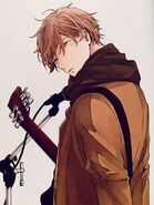 Mafuyu with his guitar & mic