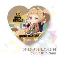Birthday event heart badge