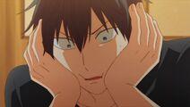 Ritsuka wondering if he actually kissed Mafuyu