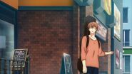 Mafuyu telling Ritsuka that the station is the other way