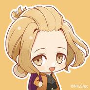 Given Major Debut Commemoration, SD Character Ban & Icon Present (Haruki)
