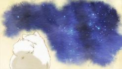 Kedama looking up at the stars ending