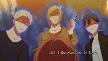 Ritsuka, Akihiko, and Haruki tower over Mafuyu