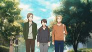 Haruki walking with his friends