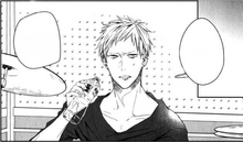Akihiko's first appearance in the manga