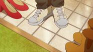 Ritsuka taking his shoes off