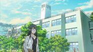 Yayoi walking to school