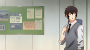 Ugetsu walking on the school hallway (30)