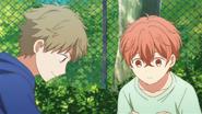 Yuki teaching Mafuyu to pet the cat (44)