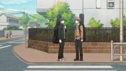Ritsuka meeting Mafuyu at the crosswalk