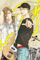 Akihiko and Haruki with instruments
