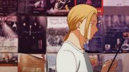 Haruki looks at the list while walking